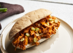 Tandoori broodje pulled chicken